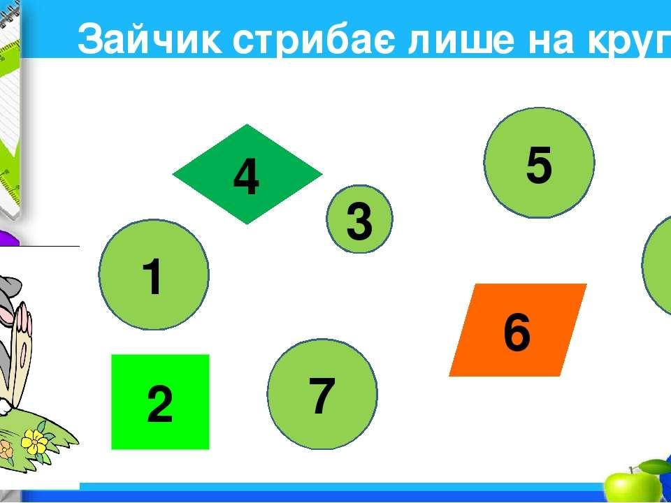 Зайчик стрибає лише на круглі килимки. Назви ті числа. Що між ними є спільног...