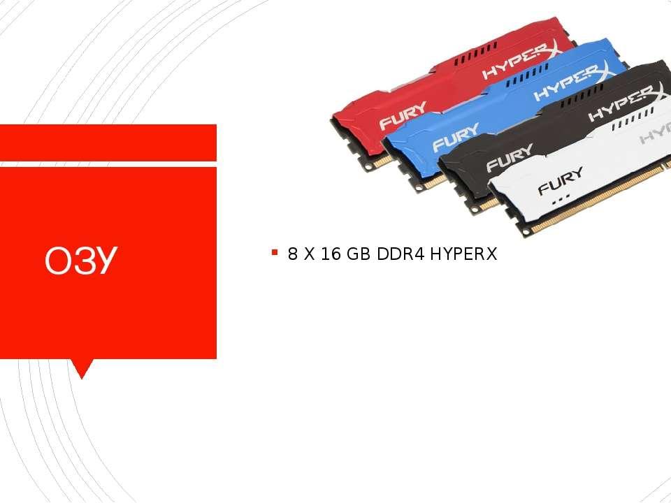 ОЗУ 8 X 16 GB DDR4 HYPERX