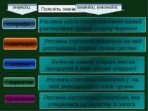Поясніть значення термінів терміни значення термінів спорофіт Рослина нестате...