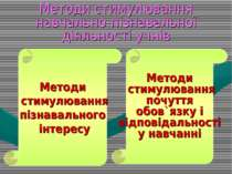 Методи стимулювання навчально-пізнавальної діяльності учнів Методи стимулюван...