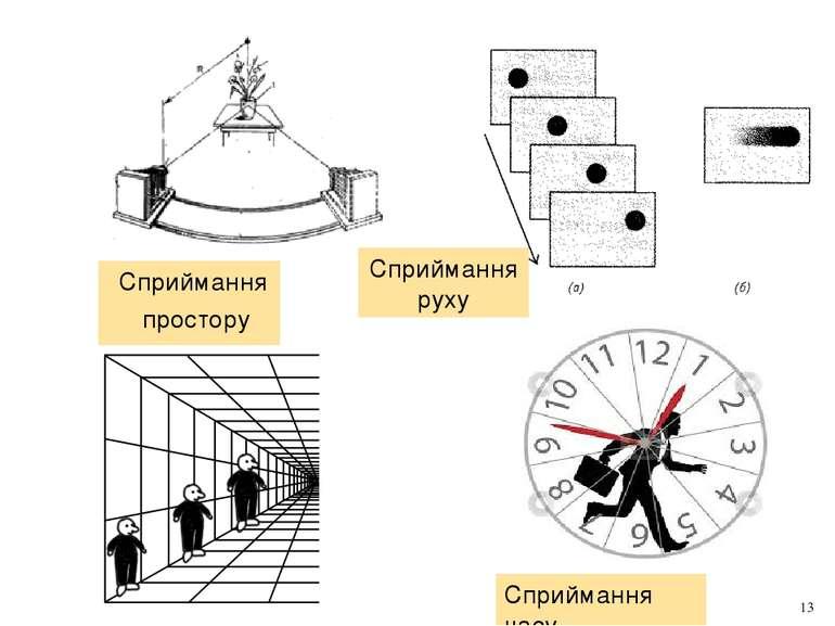 Сприймання простору Сприймання руху Сприймання часу