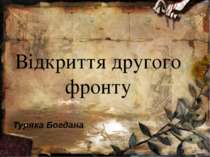Відкриття другого фронту Туряка Богдана