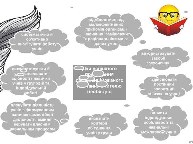 Для успішного проведення диференційованого навчання вчителю необхідно вивчити...