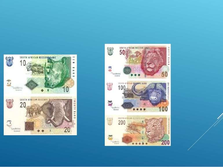 Національною валютою країни слугує ранд. У 2006 році за 1 долар США (USD) дав...