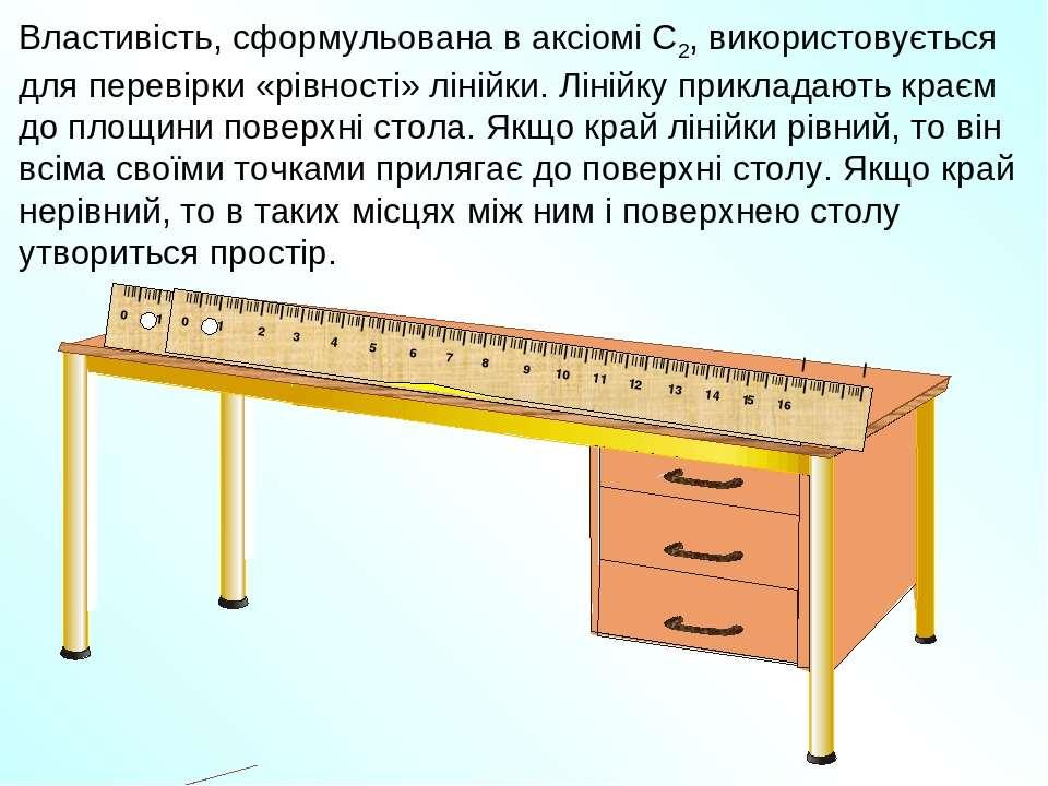 Властивість, сформульована в аксіомі С2, використовується для перевірки «рівн...