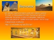 Висновок Ця презентація розповіла нам про чарівну країну – Єгипет. Стародавні...