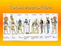 Головні єгипетські боги