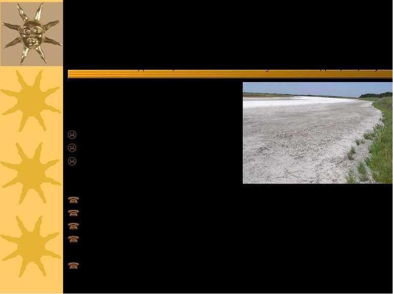 Наслідки вторинного засолення ґрунтів: ♦ в результаті зрошувальних робіт збіл...