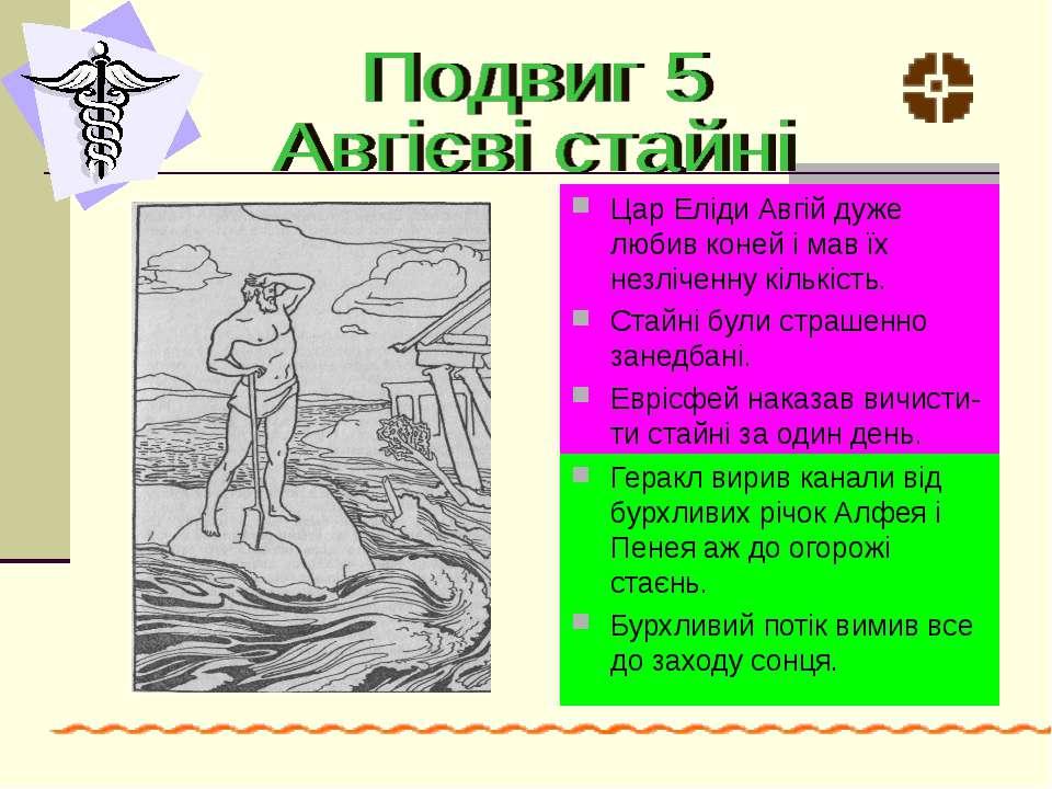Цар Еліди Авгій дуже любив коней і мав їх незліченну кількість. Стайні були с...