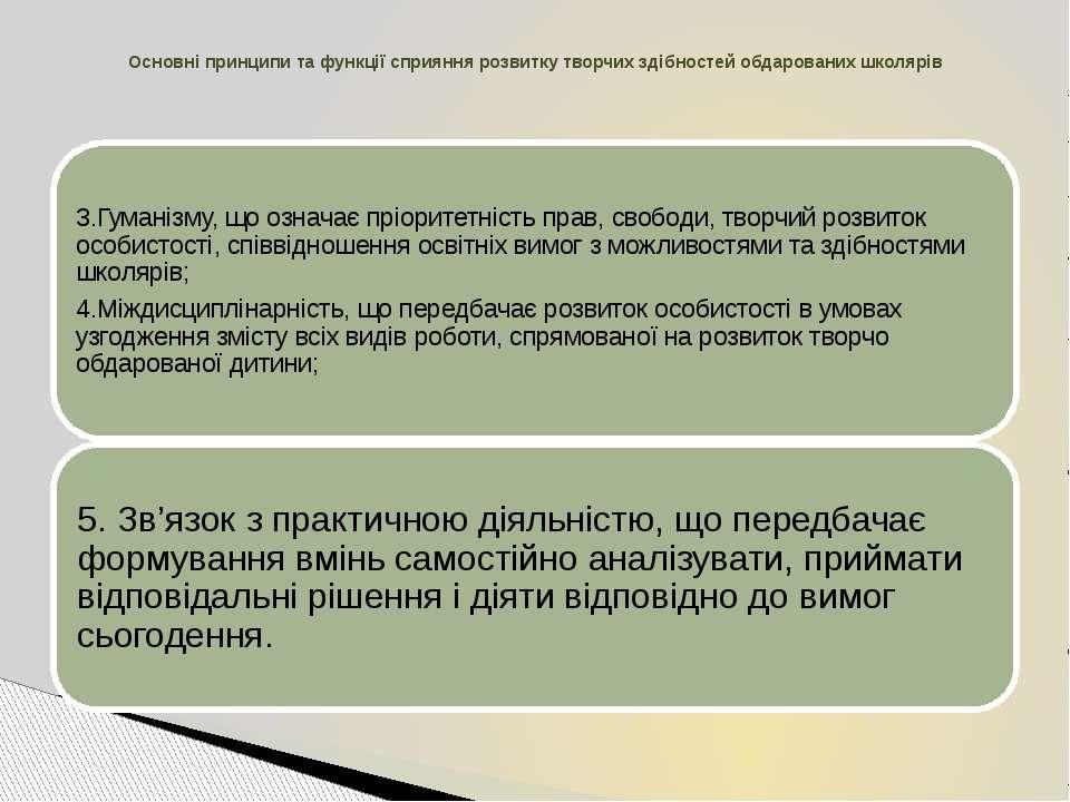 Основні принципи та функції сприяння розвитку творчих здібностей обдарованих ...