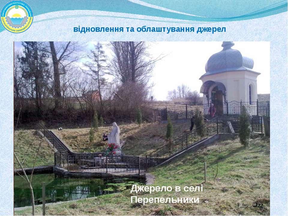 Джерело в селі Перепельники відновлення та облаштування джерел