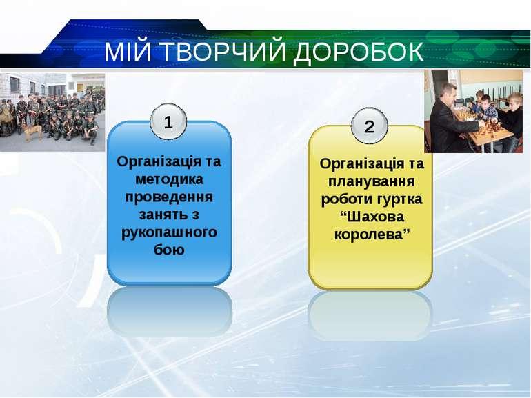 МІЙ ТВОРЧИЙ ДОРОБОК 1 Організація та методика проведення занять з рукопашного...