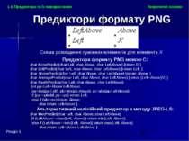 Теоретичні основи Розділ 1 1.4. Предиктори та їх використання Предиктори форм...