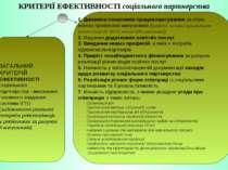 КРИТЕРІЇ ЕФЕКТИВНОСТІ соціального партнерства 1. Динаміка показників працевла...