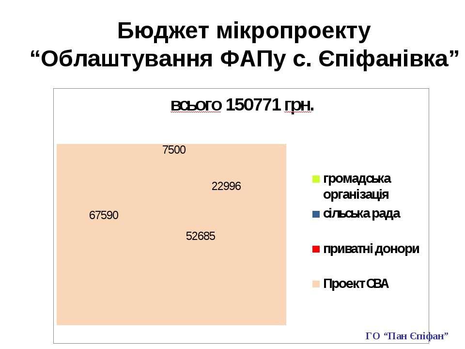 """Бюджет мікропроекту """"Облаштування ФАПу с. Єпіфанівка"""" ГО """"Пан Єпіфан"""""""