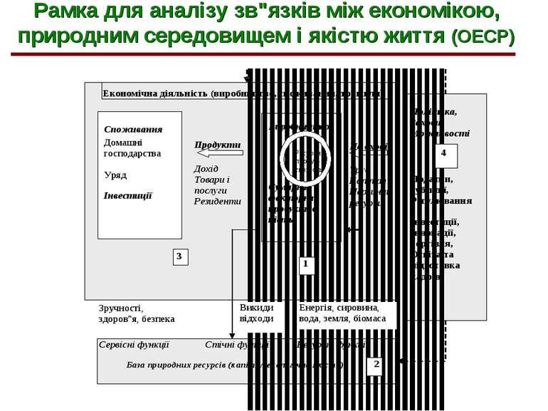 """Рамка для аналізу зв""""язків між економікою, природним середовищем і якістю жит..."""