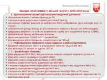 Заходи, реалізовані у міській галузі у 2006-2010 році 1. Удосконалення органі...