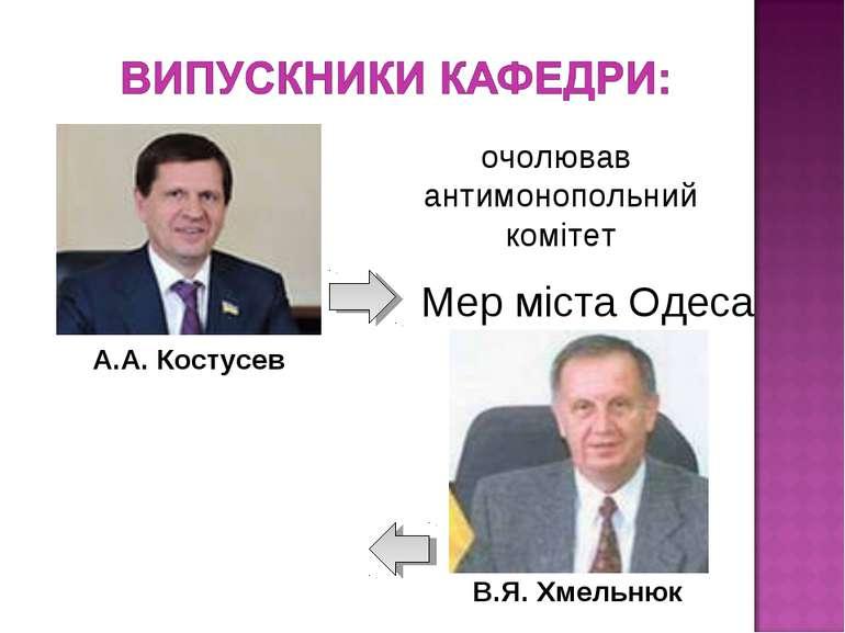 Мер міста Одеса очолював антимонопольний комітет А.А. Костусев