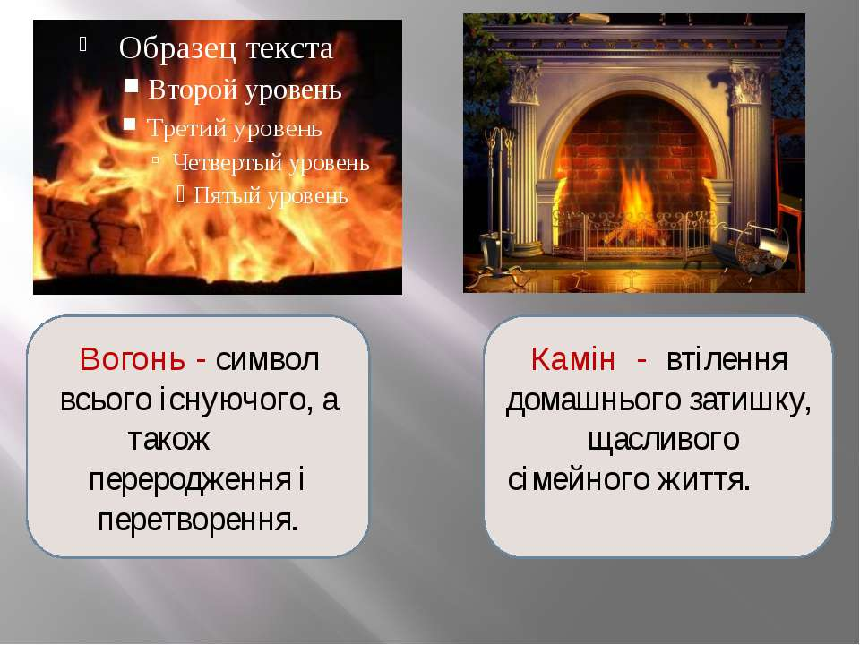 Вогонь - символ всього існуючого, а також переродження і перетворення. Камін ...