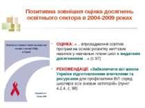 Позитивна зовнішня оцінка досягнень освітнього сектора в 2004-2009 роках ОЦІН...