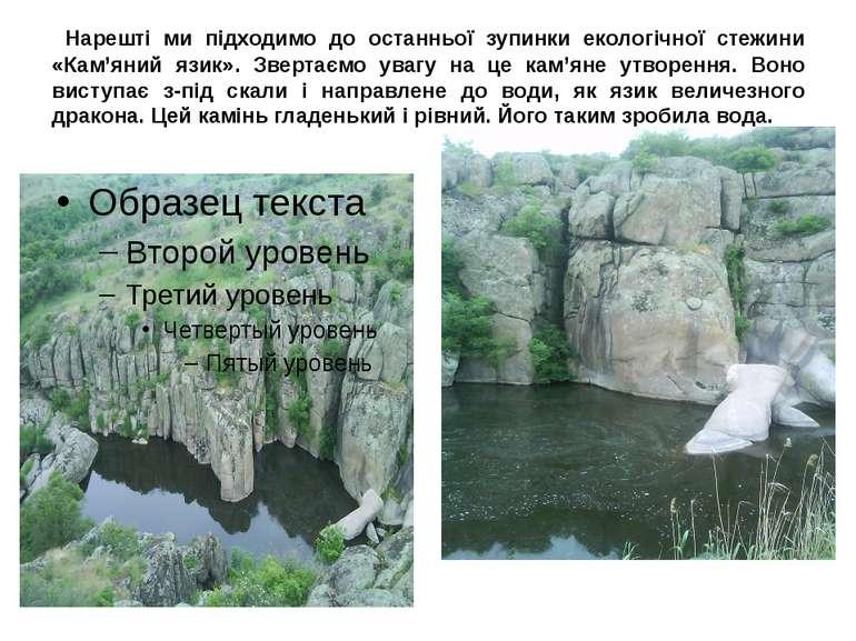 Нарешті ми підходимо до останньої зупинки екологічної стежини «Кам'яний язик»...