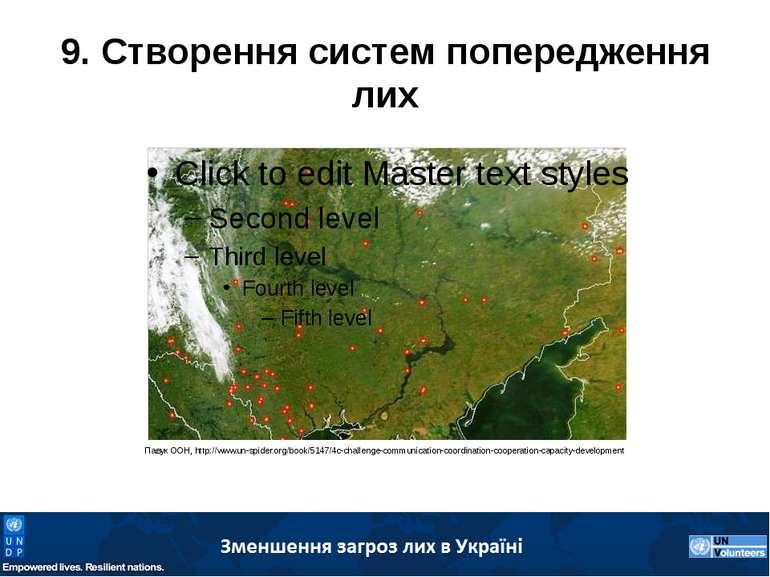 9. Створення систем попередження лих Павук ООН, http://www.un-spider.org/book...