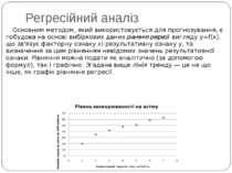 Регресійний аналіз Основним методом, який використовується для прогнозування,...