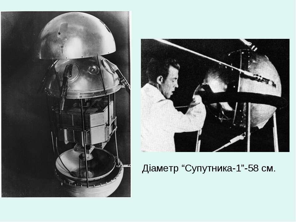"""Діаметр """"Супутника-1""""-58 см."""