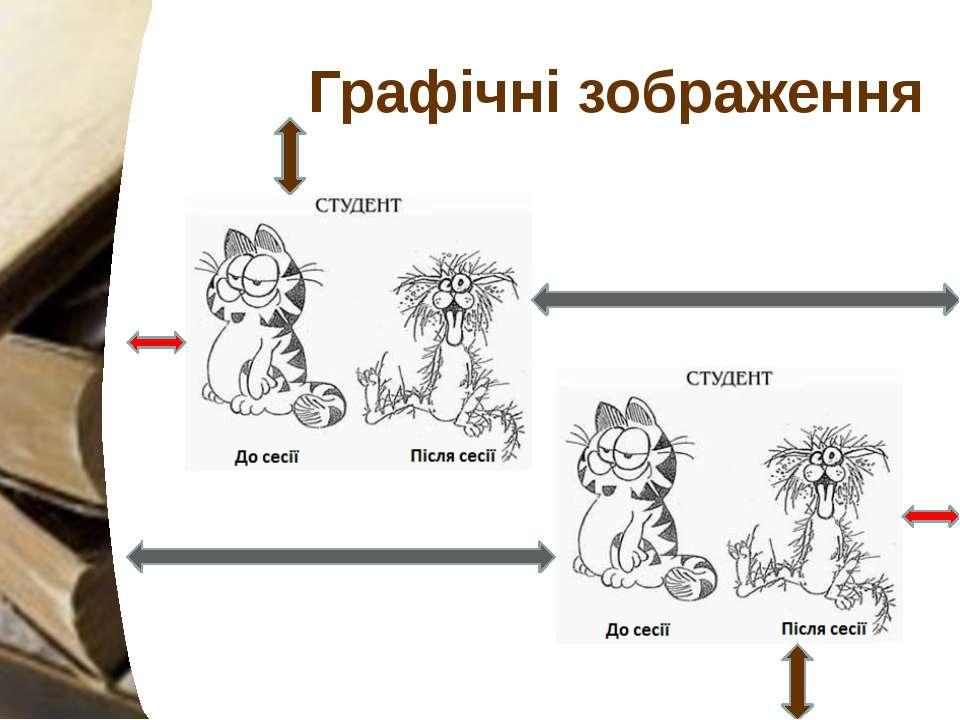 Графічні зображення Графічні зображення, поліпшують сприйняття. Доцільно роби...