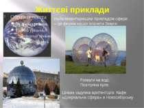 Життєві приклади Найелементарнішим прикладом сфери – це форма нашої планети З...