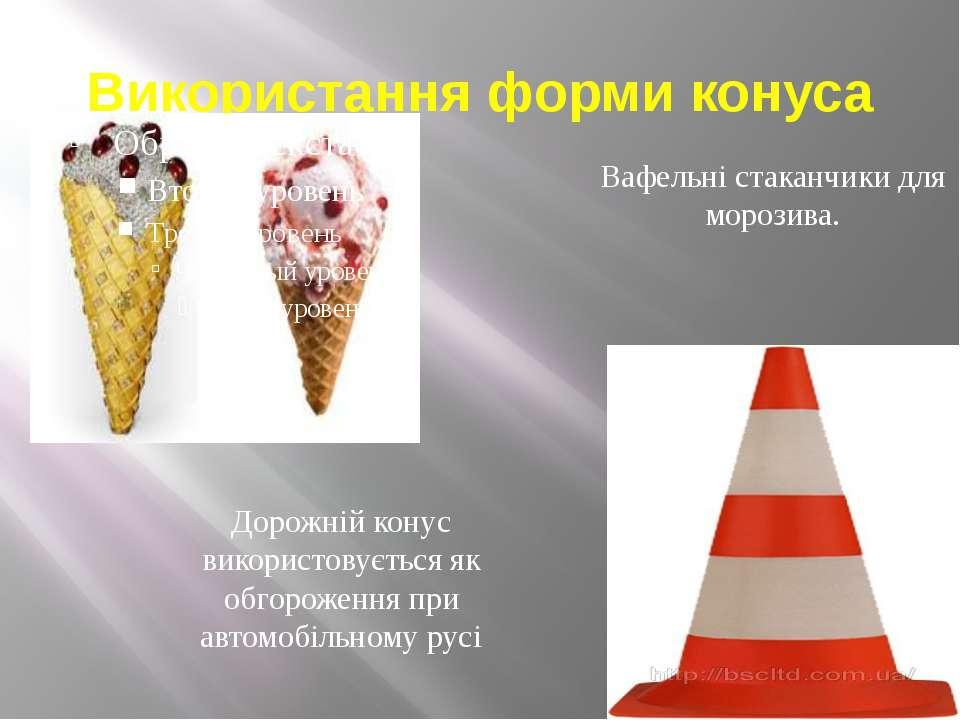 Використання форми конуса Вафельні стаканчики для морозива. Дорожній конус ви...