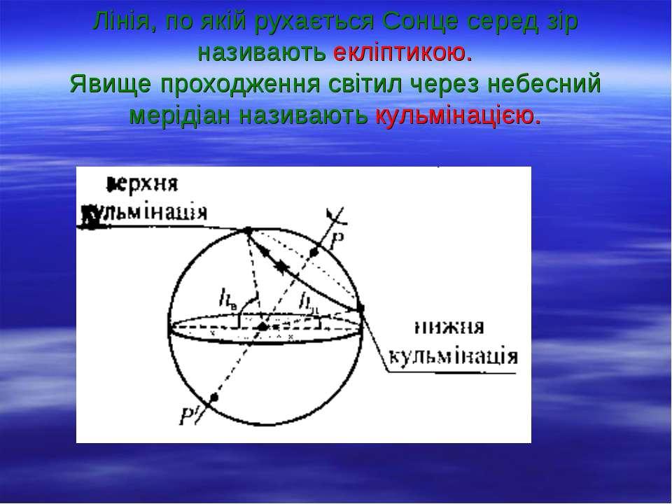 Лінія, по якій рухається Сонце серед зір називають екліптикою. Явище проходже...