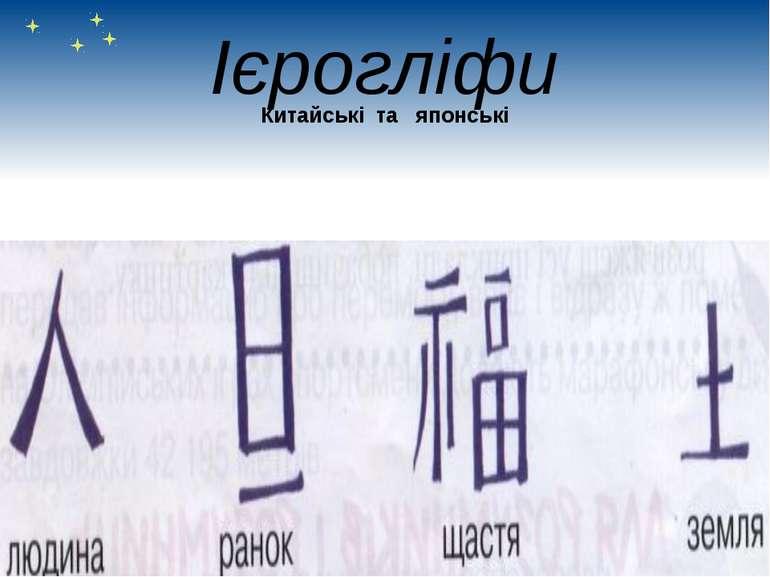 Ієрогліфи Китайські та японські