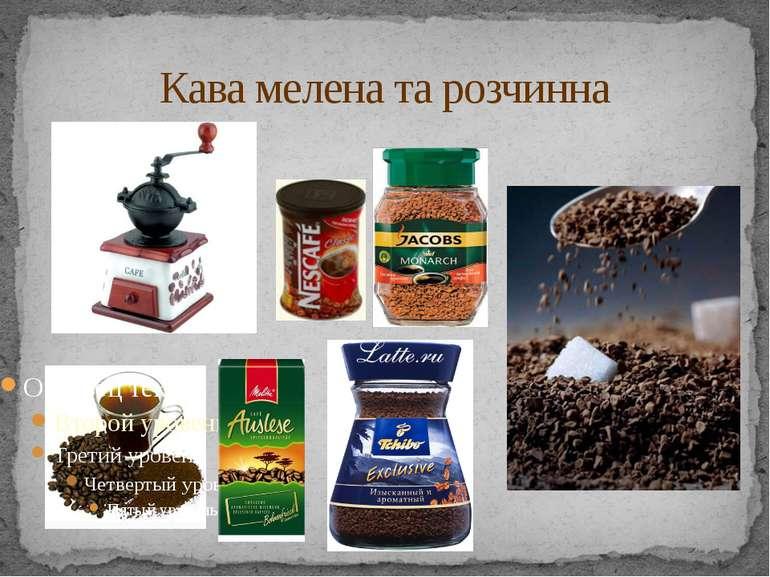 Кава мелена та розчинна