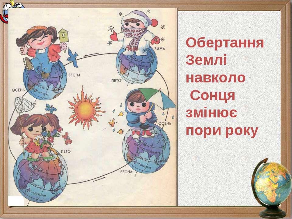Обертання Землі навколо Сонця змінює пори року