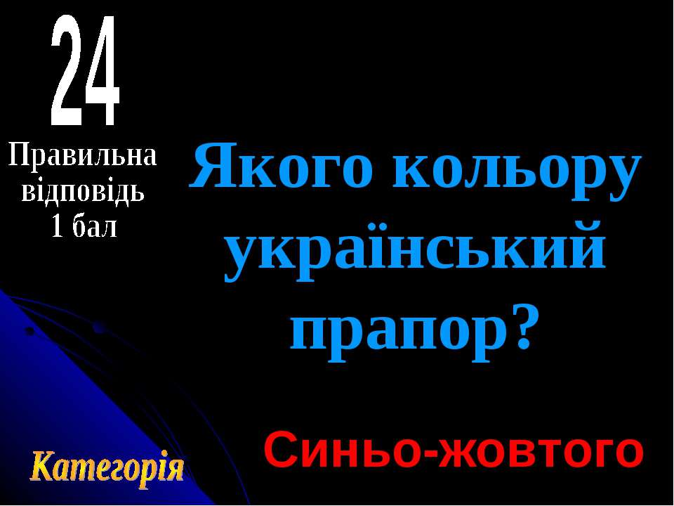 Якого кольору український прапор? Синьо-жовтого