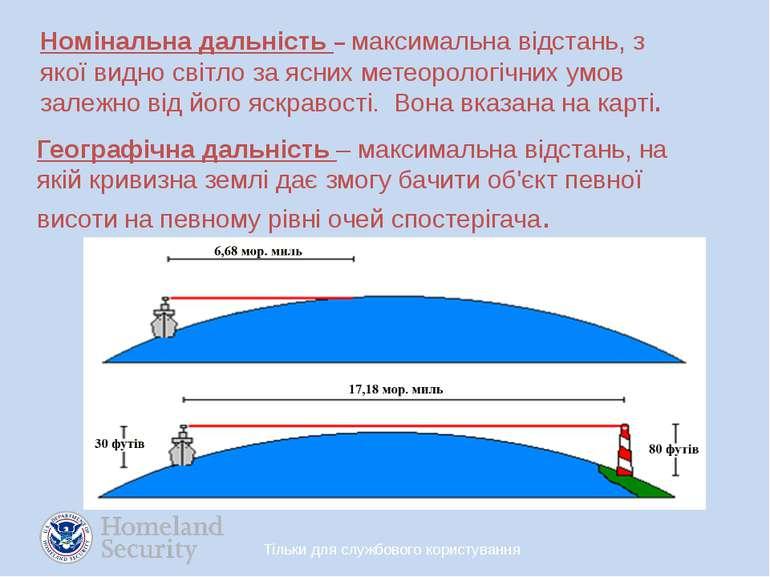 Номінальна дальність – максимальна відстань, з якої видно світло за ясних мет...