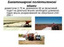Багатошарові поліетиленові мішки діаметром 2,75 м, довжиною 60 м (можливий по...