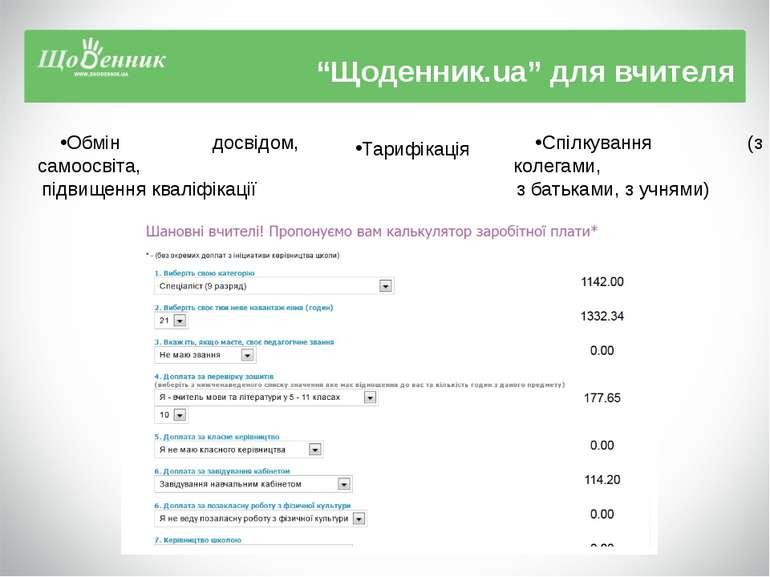 """""""Щоденник.ua"""" для вчителя Обмін досвідом, самоосвіта, підвищення кваліфікації..."""