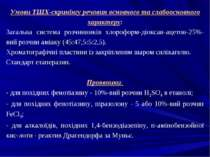 Умови ТШХ-скринінгу речовин основного та слабоосновного характеру: Загальна с...