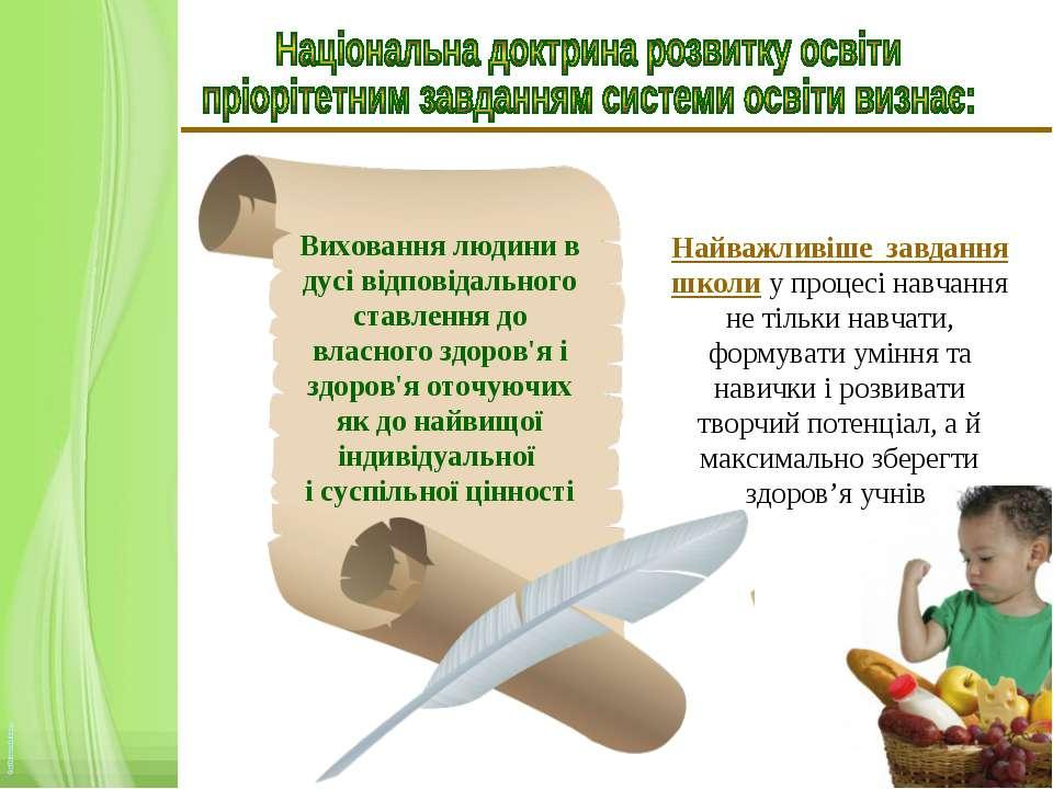 Виховання людини в дусі відповідального ставлення до власного здоров'я і здор...