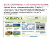 GREENR (The Global Reference on the Environment, Energy, and Natural Resource...