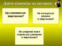 Що називається звертанням? Як інтонується речення із звертанням? Які розділов...