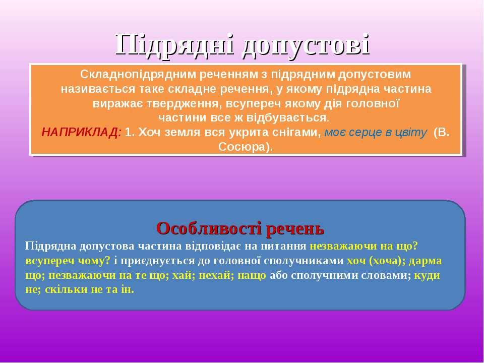 Підрядні допустові Складнопідрядним реченням з підрядним допустовим називаєть...