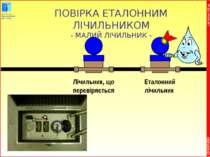 * COPYRIGHT OIEau ПОВІРКА ЕТАЛОННИМ ЛІЧИЛЬНИКОМ - МАЛИЙ ЛІЧИЛЬНИК - CG 01/07/...