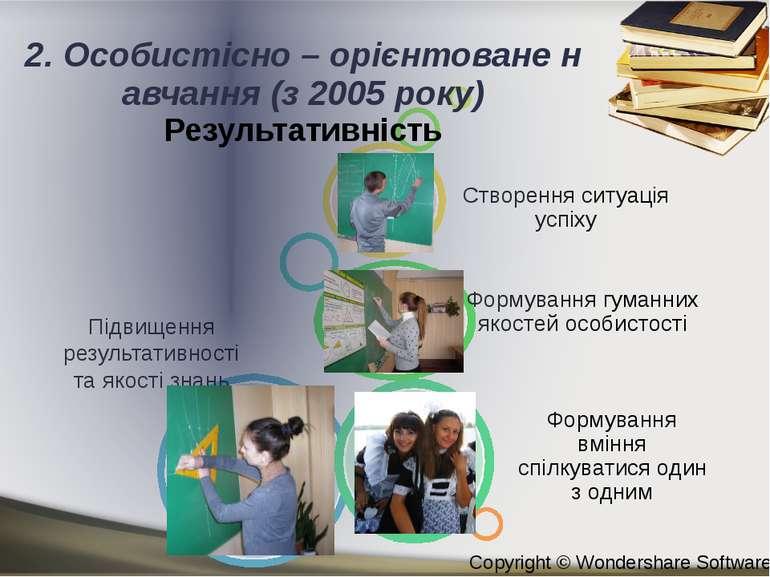 2. Особистісно – орієнтоване навчання (з 2005 року) Результативність Copyrigh...