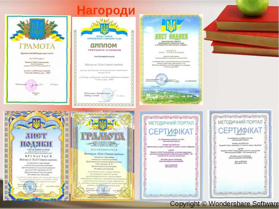 Нагороди Copyright © Wondershare Software
