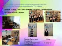 Беремо участь у різноманітних конкурсах,предметних шкільних олімпіадах з мате...