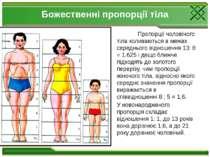 Божественні пропорції тіла Пропорції чоловічого тіла коливаються в межах сере...