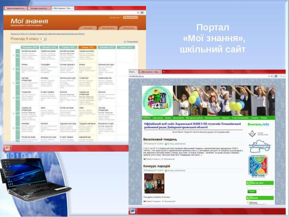 Портал «Мої знання», шкільний сайт
